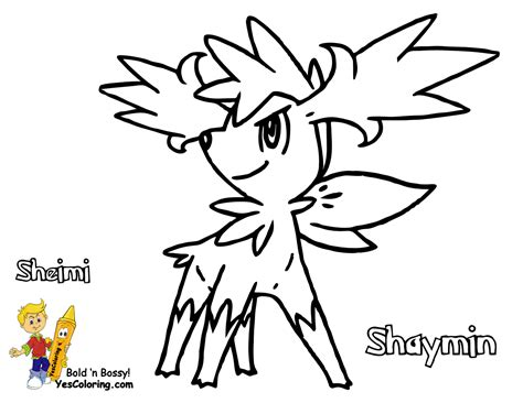 Gritty Pokemon Printouts Mantyke Arceus Free Kids Shaymin Coloring Pages