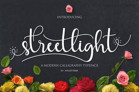 streetlight script font befontscom