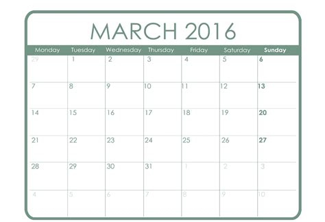 printable monthly planner march 2016 calendar printable for march month 2016 printable