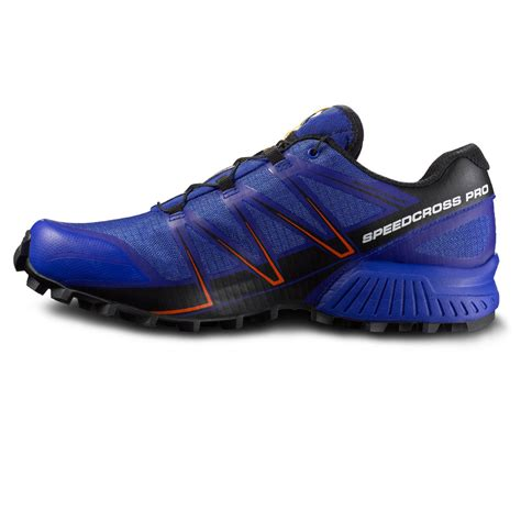 waterproof sport shoes salomon speedcross pro mens blue waterproof running sports
