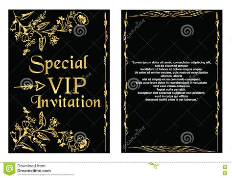 Vip Invitation Card Template Stock Vector Image 75085551 Vip Birthday Invitations Templates Free