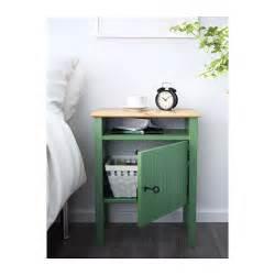 hurdal bedside table green 49x34 cm ikea