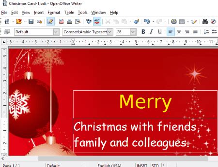 Open Office Birthday Card Template by Openoffice Greeting Card Template Wblqual