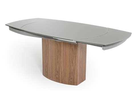 frau modern round dining table modrest swing modern grey walnut veneer dining table