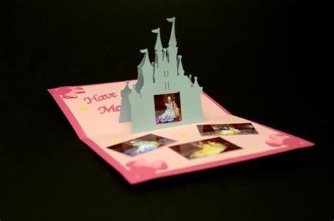castle pop up card template castle pop up card template
