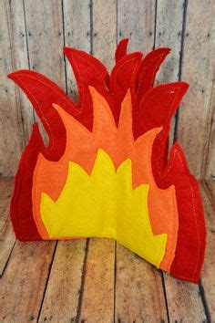 How To Make Flames Out Of Tissue Paper - diy felt cfire tutorial and pattern one for the boys