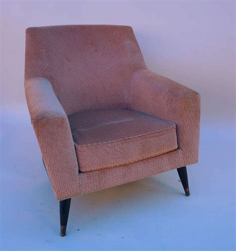 armchairs with footstool set of three armchairs with one ottoman for sale at 1stdibs