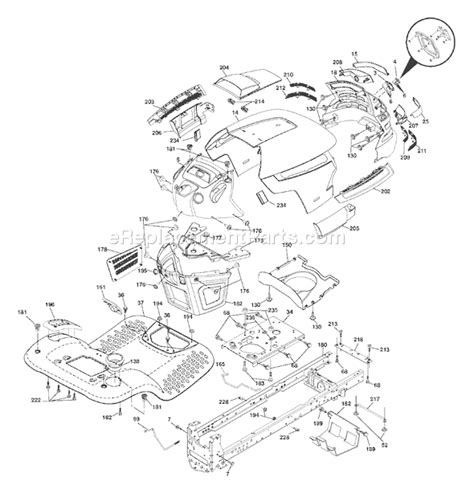 husqvarna yth 2348 parts list and diagram 96045000500