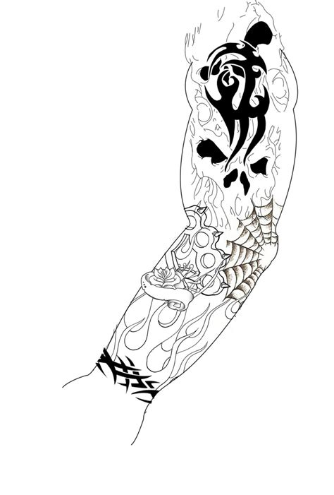 sleeve tattoo design by guitar master 101 on deviantart