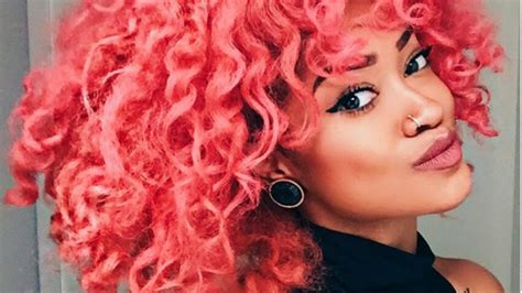 how to do pinks up do hair i m dying my curly hair pink youtube