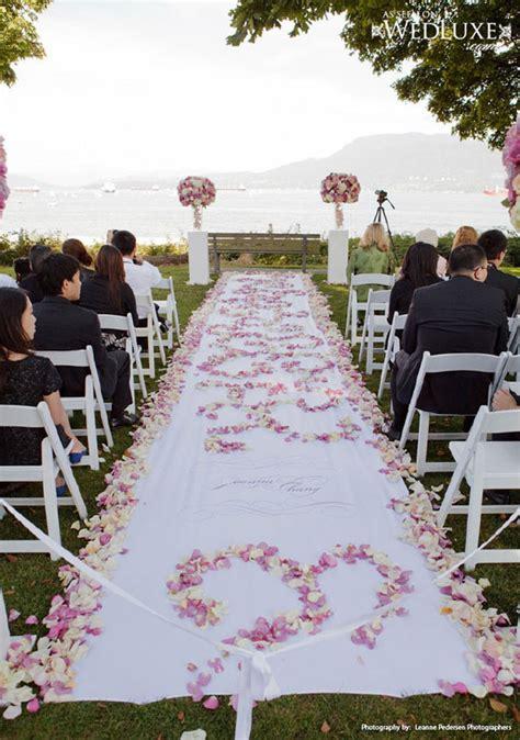 Wedding Ceremony Aisle Decorations by Aisle Decor Archives Weddings Romantique