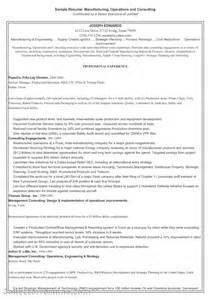 Sle Manufacturing Resume by Resume Templates For Purchase Officer