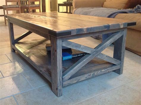 Stained Coffee Table White Rustic X Coffee Table With Minwax Classic Gray Stain Diy Projects