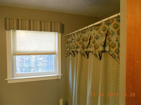 Upholstered Valance Upholstered Cornice With Coordinating Shower Curtain And