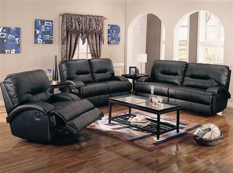 leather motion sofa sets lowell 2 motion sofa set in black bonded leather by