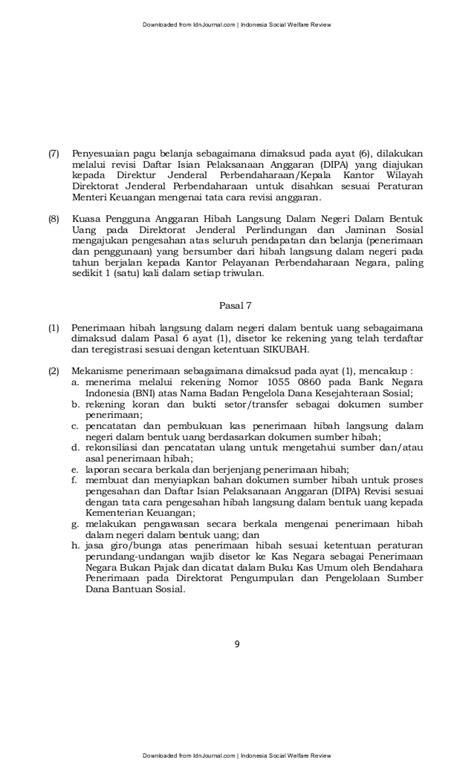 revisi dipa kantor pelayanan perbendaharaan cirebon permensos 14 tahun 2012 idn journal