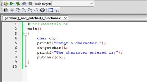 tutorial in c c programming tutorial 66 the getchar and putchar