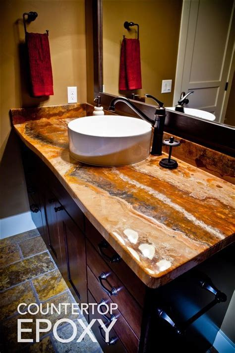 Photos of beautiful, seamless Epoxy Countertops   bathroom