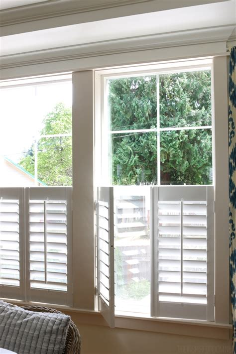 Window Treatments For Bay Windows In Dining Rooms new plantation shutters the inspired room
