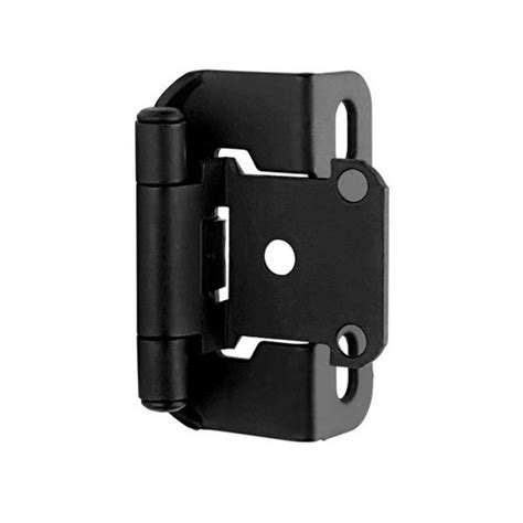 flat hinges for cabinets amerock partial wrap 1 2 quot overlay hinge flat black per