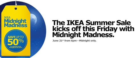 ikea sale ikea canada midnight madness summer sale save up to 50 canadian freebies coupons deals