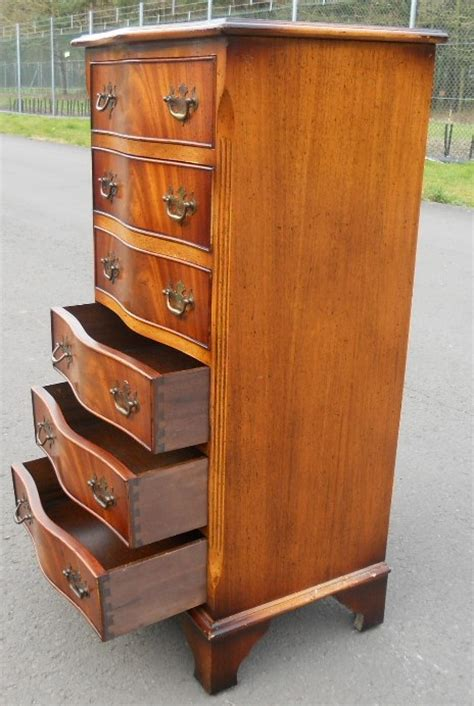 tall shallow chest of drawers tall narrow yew wood chest of drawers