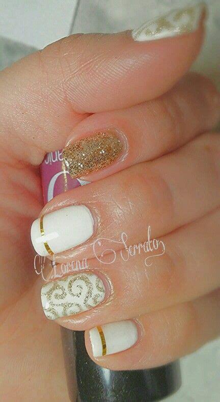 imagenes decoracion de uñas blancas dise 241 os de u 241 as blanco con dorado
