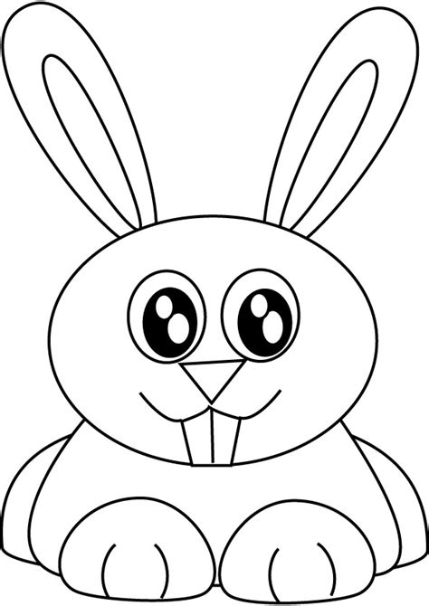 simple bunny coloring page easy bunny rabbit drawing