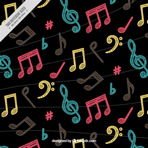 dark color musical notes vector dark background with colorful musical notes hand painted