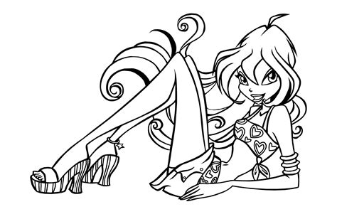 winx coloring pages free printable winx club coloring pages for