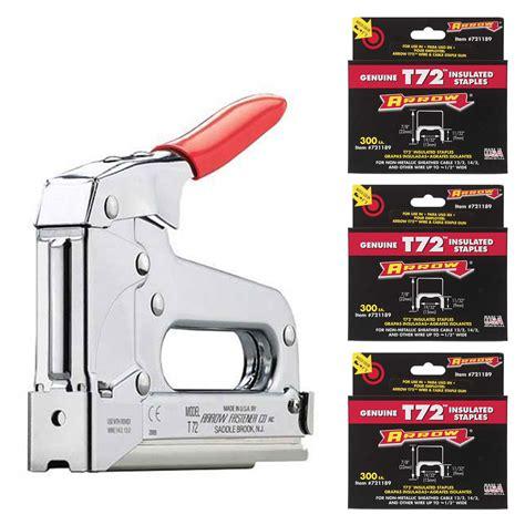 cable wire staple gun for arrow fastener t72 wire cable staple gun 900 721189 t72 7 8 quot cable staples