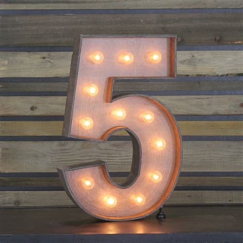 China Home Decor by Edison Marquee Number Quot 5 Quot Town Amp Country Event Rentals