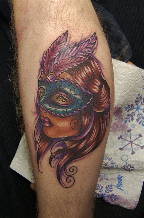 masquerade tattoo mask tattoos askideas