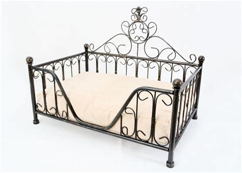 dog bed frame black metal mimi bed frame w cushion for dog cat puppies