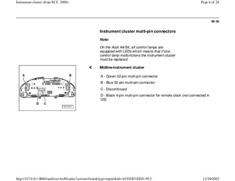 audi a4 instrument cluster wiring diagram gallery wiring
