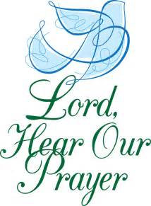 Lord hear our prayers clip art