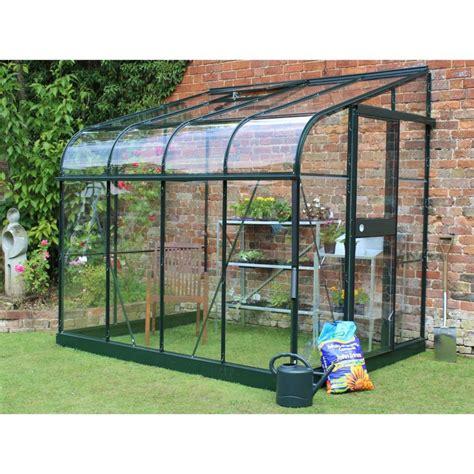 serre de jardin en verre 2804 serre adoss 233 e silverline verre tremp 233 5 m 178 embase vert