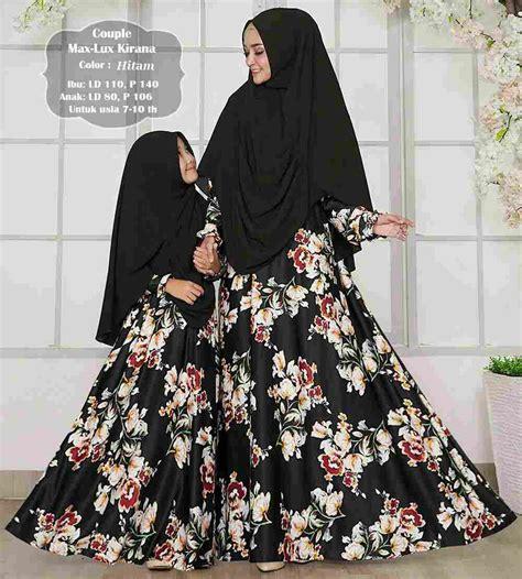 Black Gamis Abaya Syar I Ibu Dan Anak gamis ibu dan anak maxmara kirana hitam baju gamis terbaru