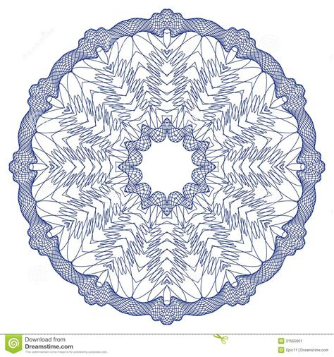 home design free money vector guilloche rosette stock image image 31555601