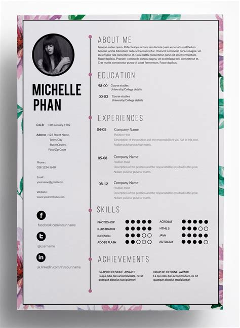 65 best creative resume templates images on pinterest creative