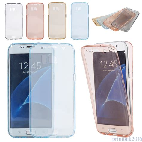 Tpu 360 Samsung Galaxy S7 Protection Free Tempered Glass thin soft clear tpu cover protection for samsung
