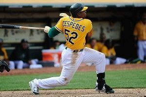 yoenis cespedes bench press game of the night white sox a s