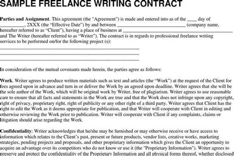 Contract Template Download Free Premium Templates Forms Sles For Jpeg Png Pdf Word Freelance Writer Agreement Template