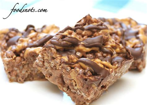 chocolate covered peanut butter rice krispie treats