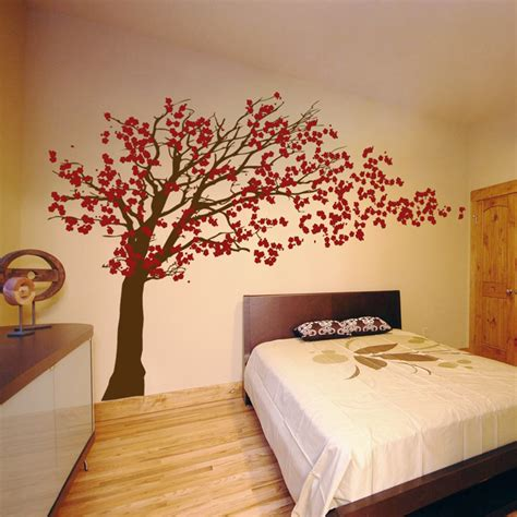 wall stickers cherry blossom tree cherry blossom tree blowing in the wind wall decal