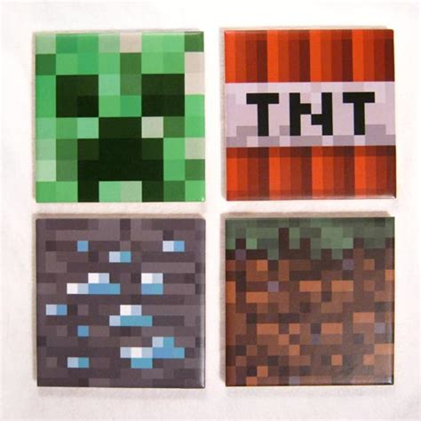 Minecraft Handmade - handmade minecraft coaster set gadgetsin