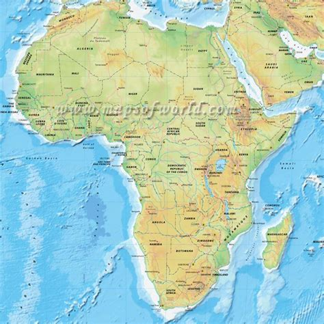 physical maps of africa best photos of map of africa physical either physical