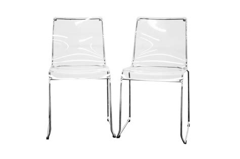Clear Acrylic Dining Chairs Lino Transparent Clear Acrylic Dining Chair Set Of 2 Wholesale Interiors