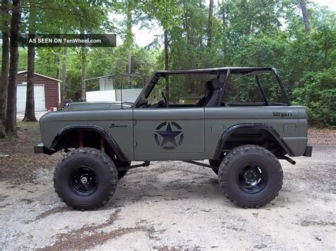 ford military 1977 ford bronco military tribute sarge 77