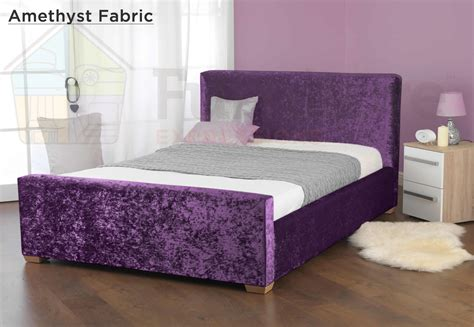 velvet king bed star fabric crushed velvet bed double king size super